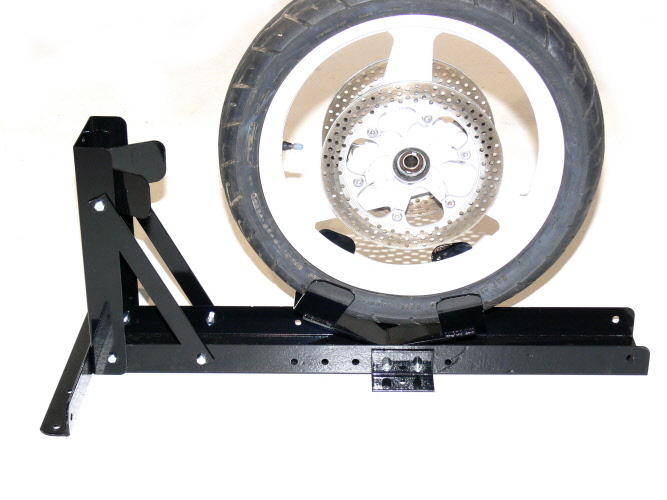 Motorcycle Wheel Chock Motorbike Transport Stand The